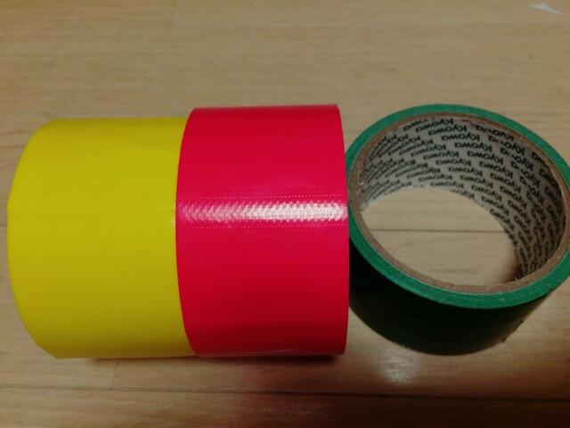 米そりにかかわらず、工作に便利なカラーの布テープ