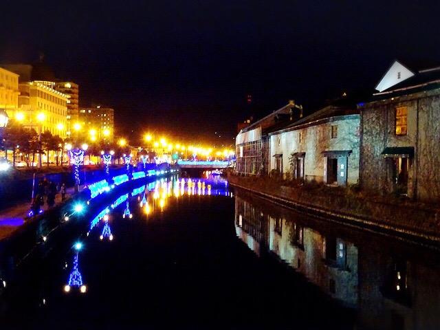 小樽運河のライトアップ