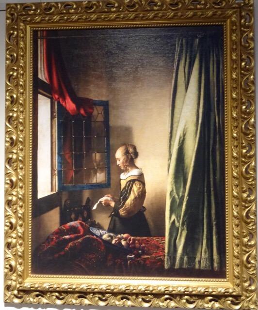6番目の作品「窓辺で手紙を読む女」
