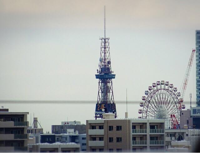札幌市街地が見渡せる