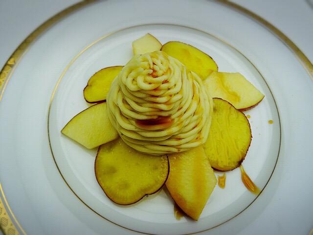 さつまいもとりんごのモンブラン