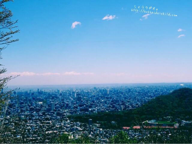 三角山の山頂からの景色