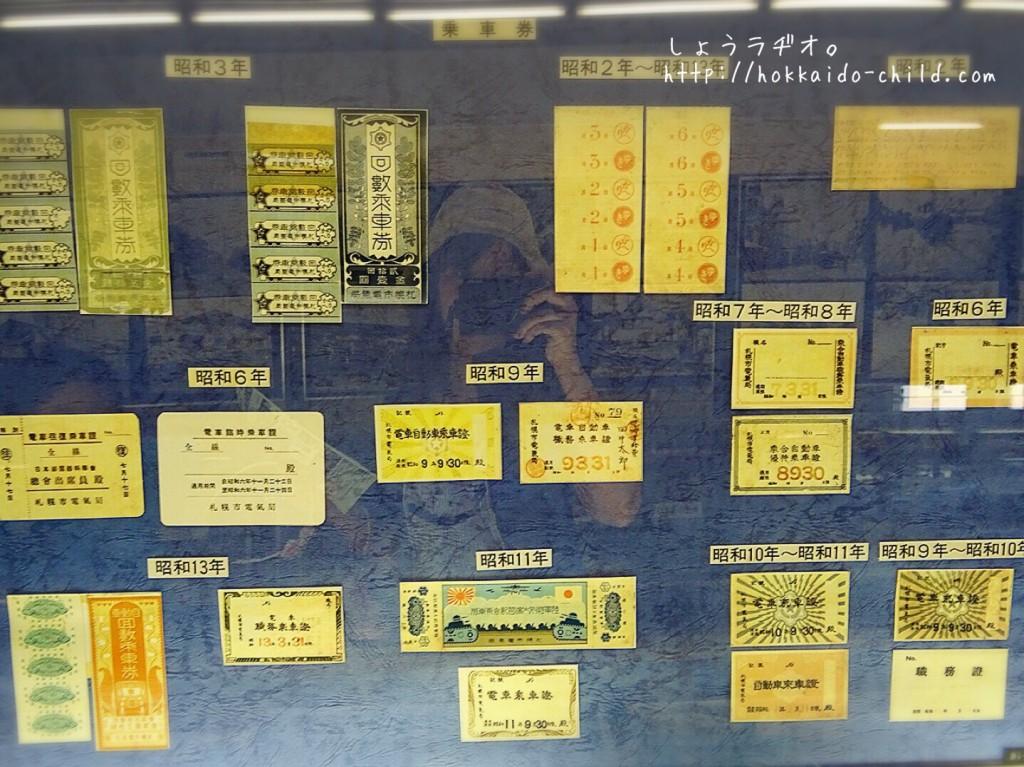 切符の展示