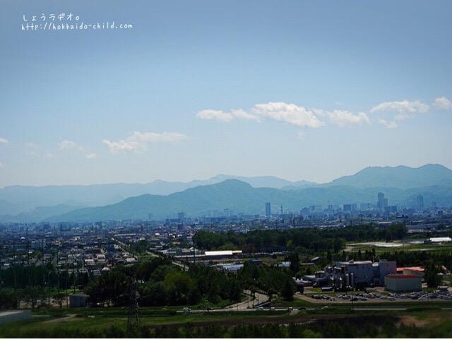 山頂からの景色。