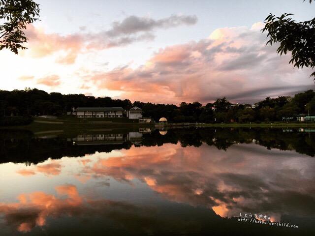 鶴沼の夕暮れ