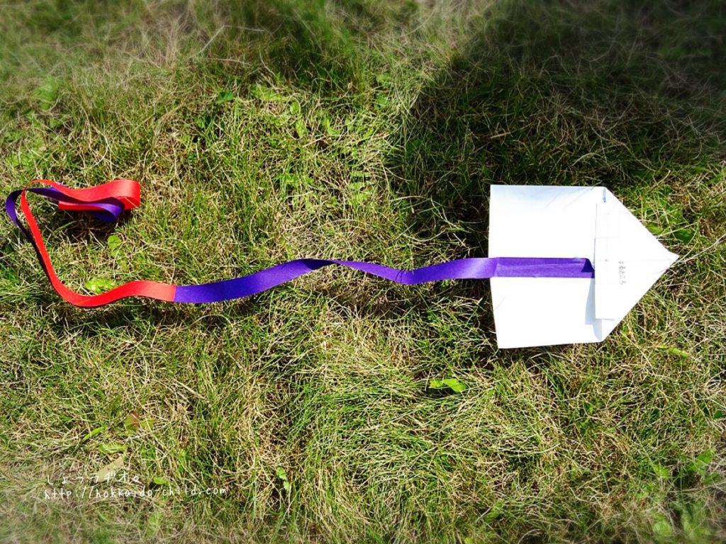 手作り凧の完成