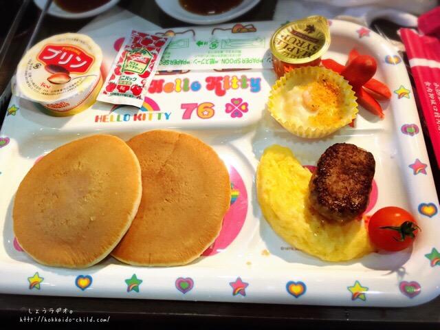 キッズパンケーキプレート680円