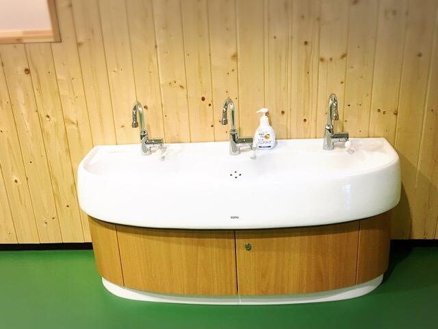手洗いできる洗面もあり