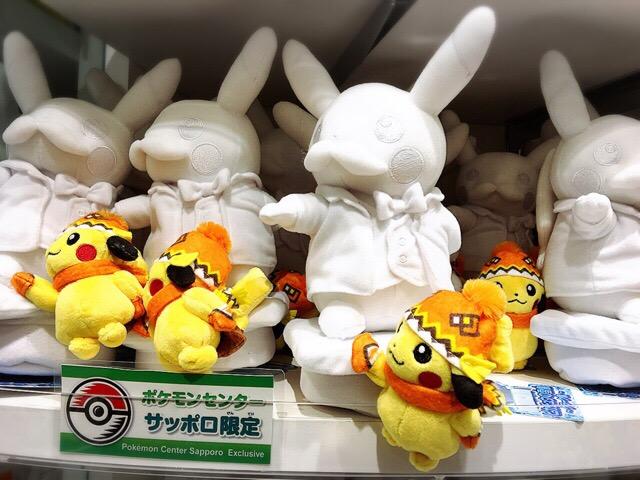札幌店限定「ぬいぐるみピカチュウの雪像」
