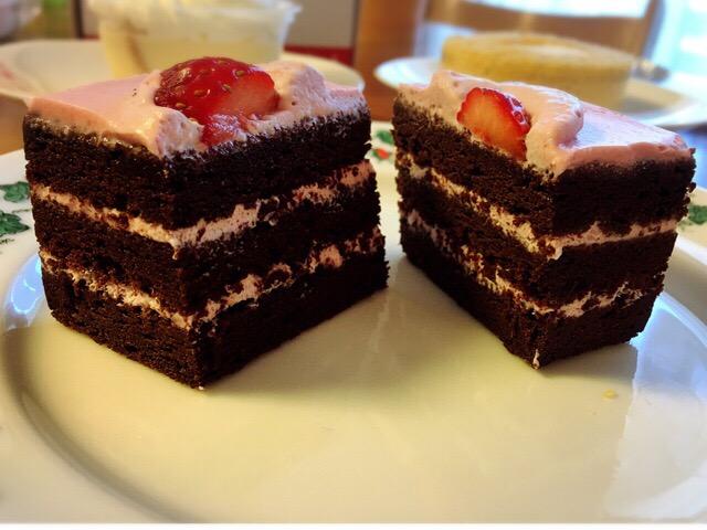 濃厚なチョコレートケーキ。