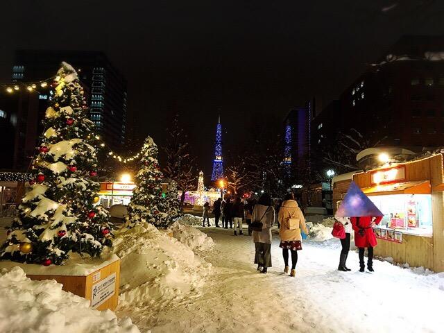 5丁目会場のクリスマスガーデンカフェ