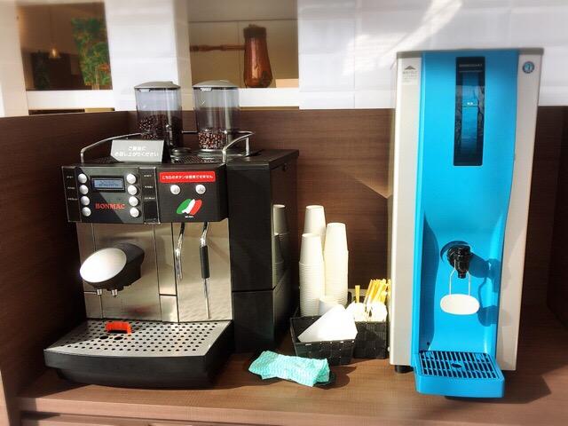 コーヒーも無料!