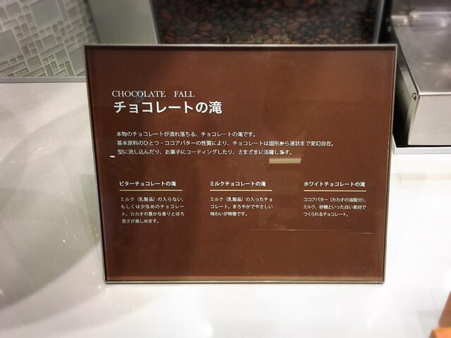 チョコレートの滝の説明