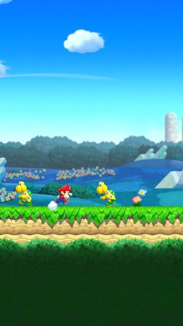 画面タッチでマリオがジャンプ!