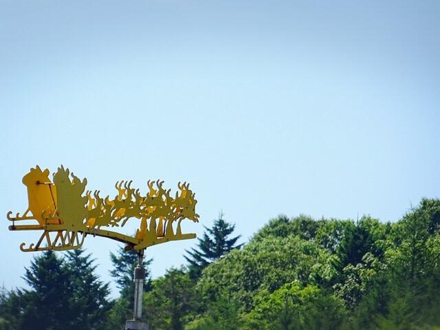 風見鶏風のサンタクロース