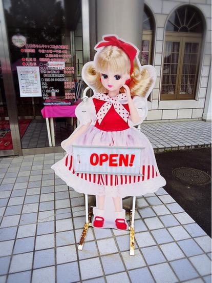 入口でりかちゃんがお出迎え。