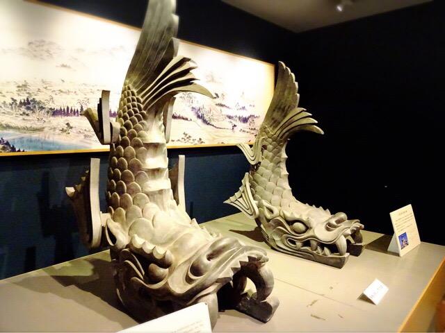 城内の展示品