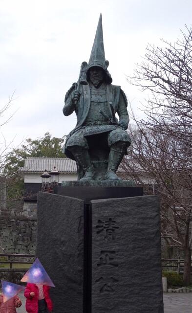 加藤清正公の銅像!