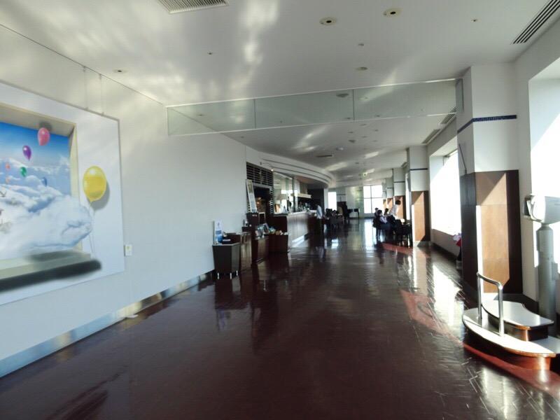 JRタワー展望室内のフロア