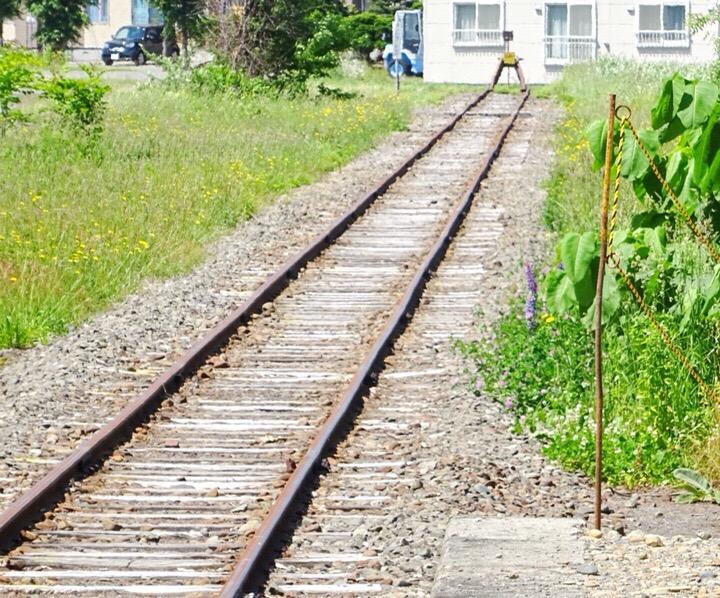 終点の線路