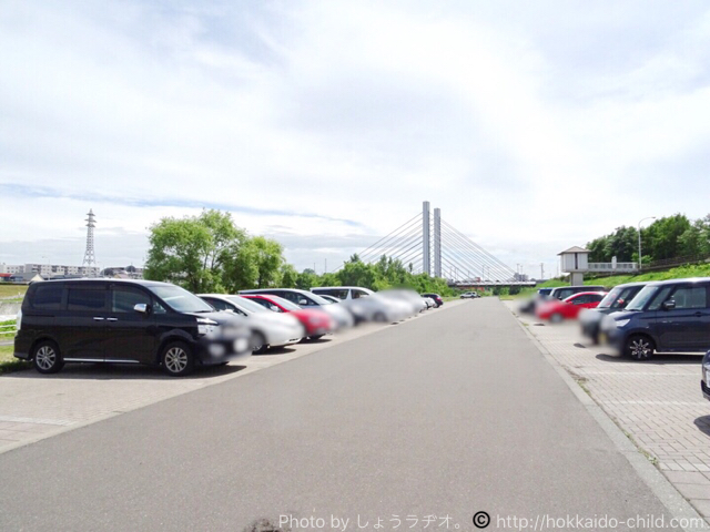 豊平川ウォーターガーデン 駐車場