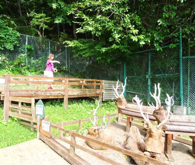栗山公園 鹿の輪投げ