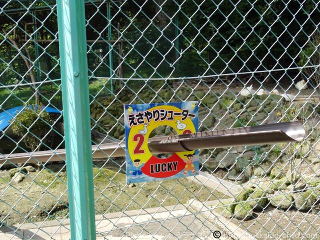 栗山公園 餌やりシューター