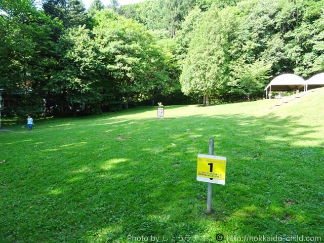栗山公園のキャンプ場のフィールド