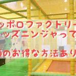 サッポロファクトリーの遊び場「キッズニンジャ」って?半額で遊ぶ方法はこれ!