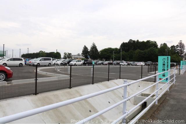 真岡市総合運動公園の駐車場
