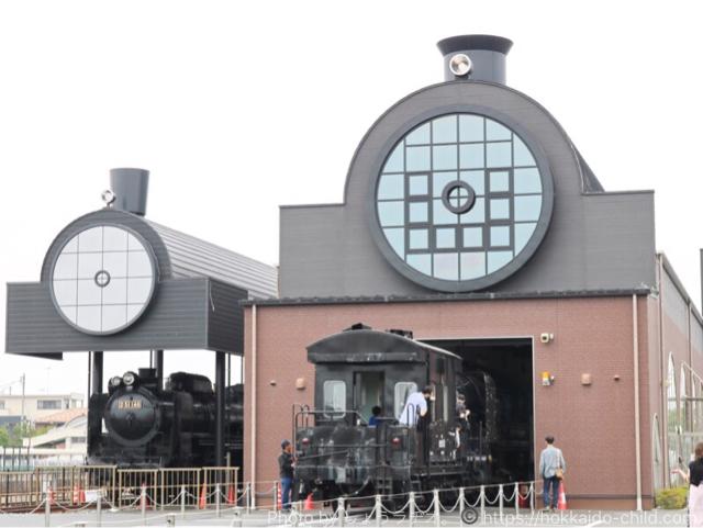 真岡駅の隣りにあるSLキューロク館