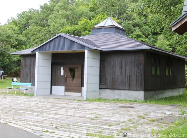 北海道立宗谷ふれあい公園 遊具広場のトイレ