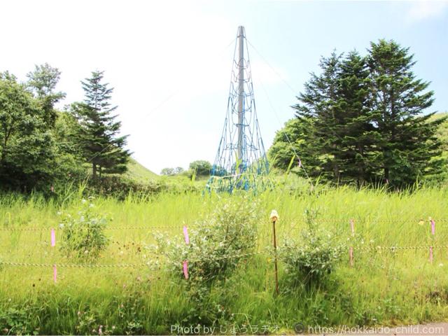 北海道立宗谷ふれあい公園 遊具広場 ネットは使用禁止