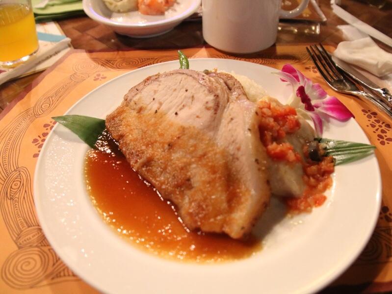 「ポリネシアンテラス・レストラン」のディナー