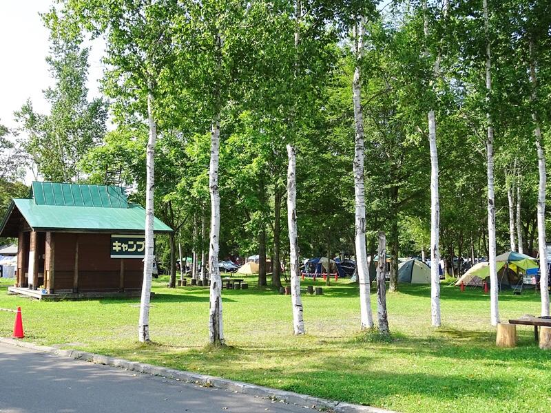 森林公園びふかアイランドのキャンプ場