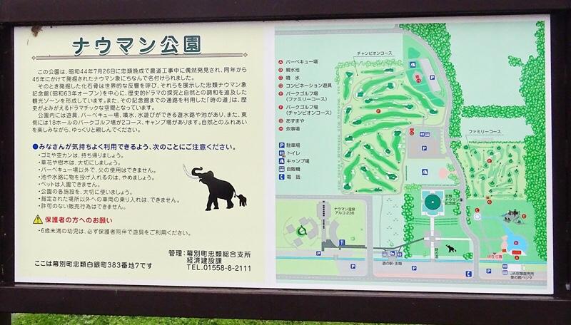 ナウマン公園の案内図