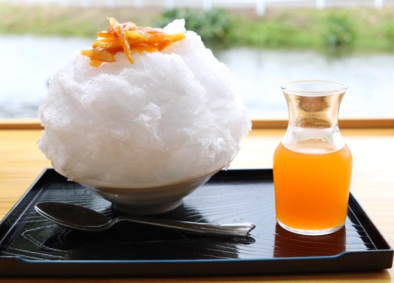 菊水苑 みかんシロップのかき氷