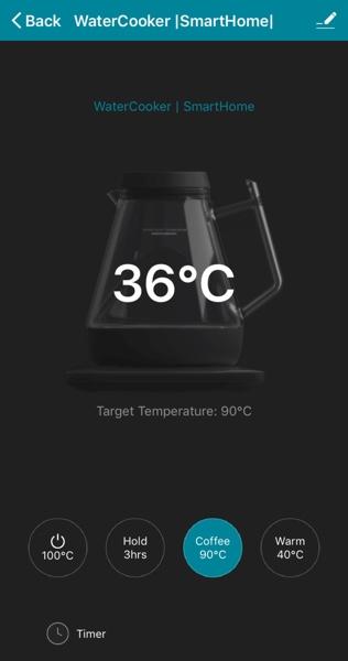 アプリから1℃単位で温度がわかる