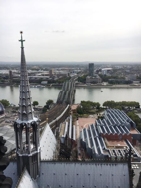 ケルン大聖堂の塔からの景色
