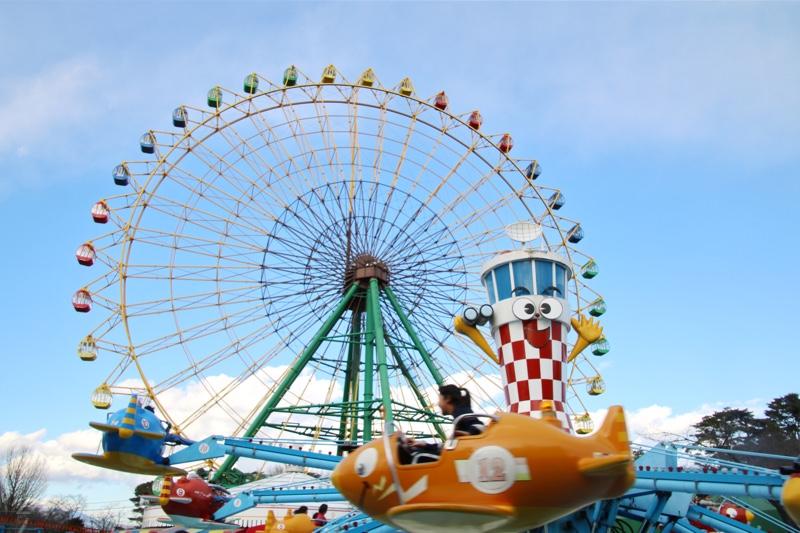 華蔵寺公園遊園地の乗り物は70円から