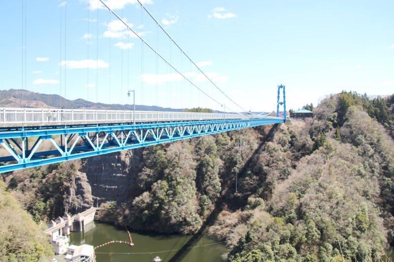 竜神大吊橋は日本で三番目に長い吊橋!