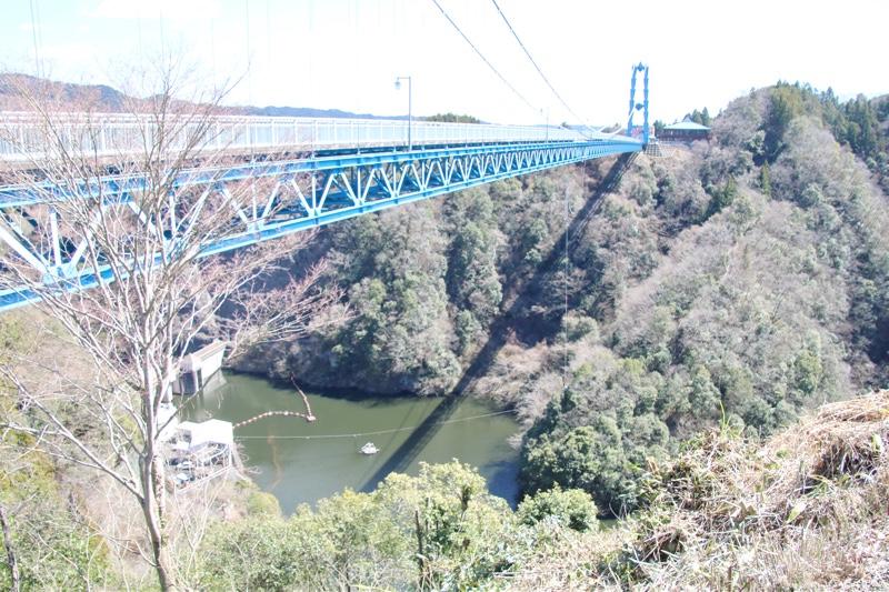 橋の反対側からよく見えるバンジージャンプ!