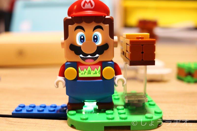 ブロックの色でマリオのディスプレイと表情が変化!
