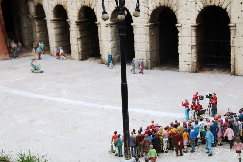 ローマの休日の撮影が再現されています